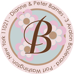 Name Doodles - Round Address Labels/Stickers (Bella Light)